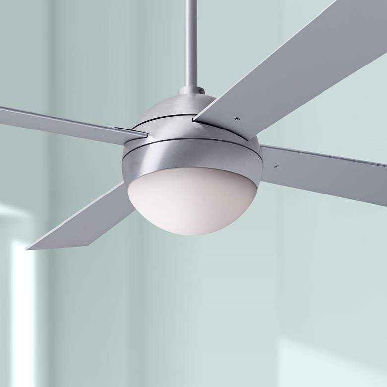 42 Modern Fan Ball Brushed Aluminum Led Ceiling Fan 42w12 Lamps Plus Ceiling Fan Led Ceiling Fan Modern Fan