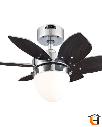 Westinghouse 7864400 24 Chrome 6 Blade Reversible Ceiling Fan With Light Ceilingfan Ceiling Fan Ceiling Fan With Light Fan Light 24 inch ceiling fan with light