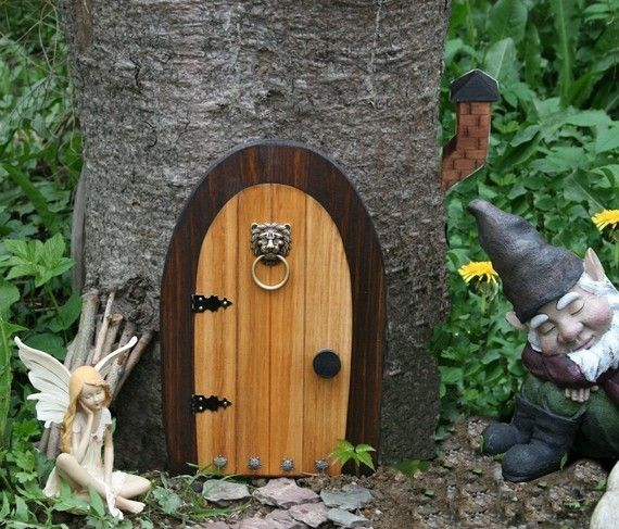 A Fairy Door Gnome Door 12 Inch Rounded Gnome Fairy Door Etsy Gnome Door Faerie Door Fairy Doors