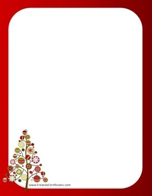 Free Christmas Borders.Red Border With A Christmas Tree Christmas Borders Free