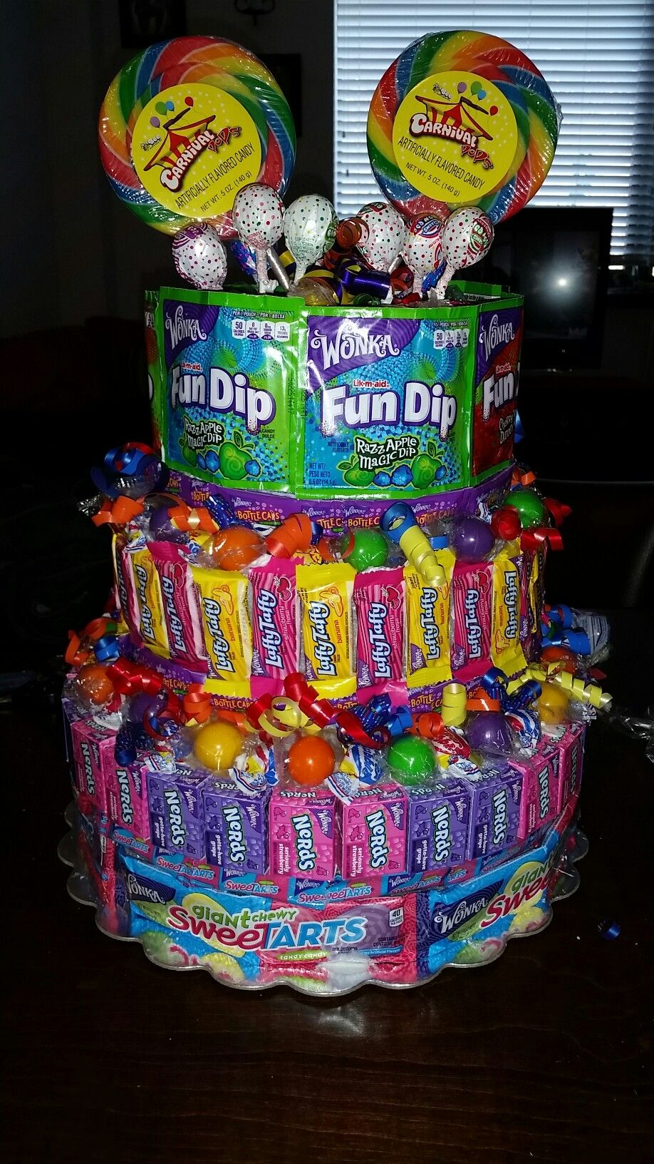 Candy Cakemade Out Of Many Different Types Of Candy Candy