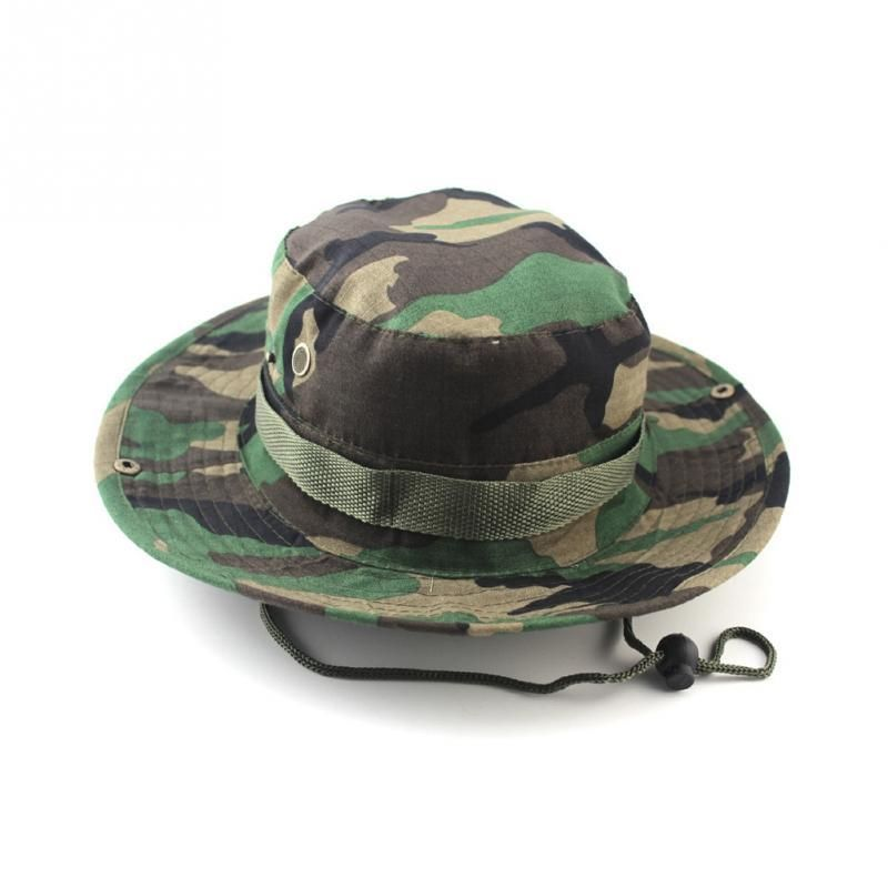 0cde549ace136 Tactical Airsoft Sniper Camouflage Boonie Hats Nepalese Cap Military Hats  Army Mens Military Sunscreen Sombrero