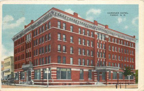 Fargo Nd Gardner Hotel Cass County North Dakota 1920 Ebay Cass County Dakota North Dakota