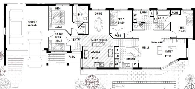 4 bedroom house plans Australia | Projects to Try | Pinterest ...