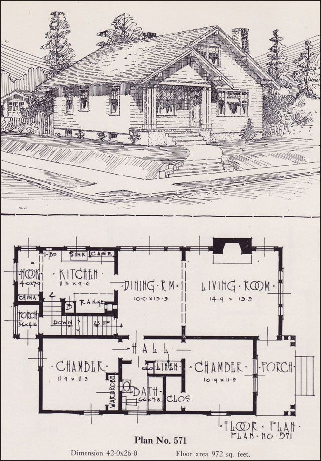 1926 Portland Homes By Universal Plan Service No 571 Bungalow Floor Plans Cottage Bungalow House Plans House Plans