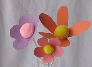 Construction Paper Flower Craft Easter Crafts For Kids Gifts