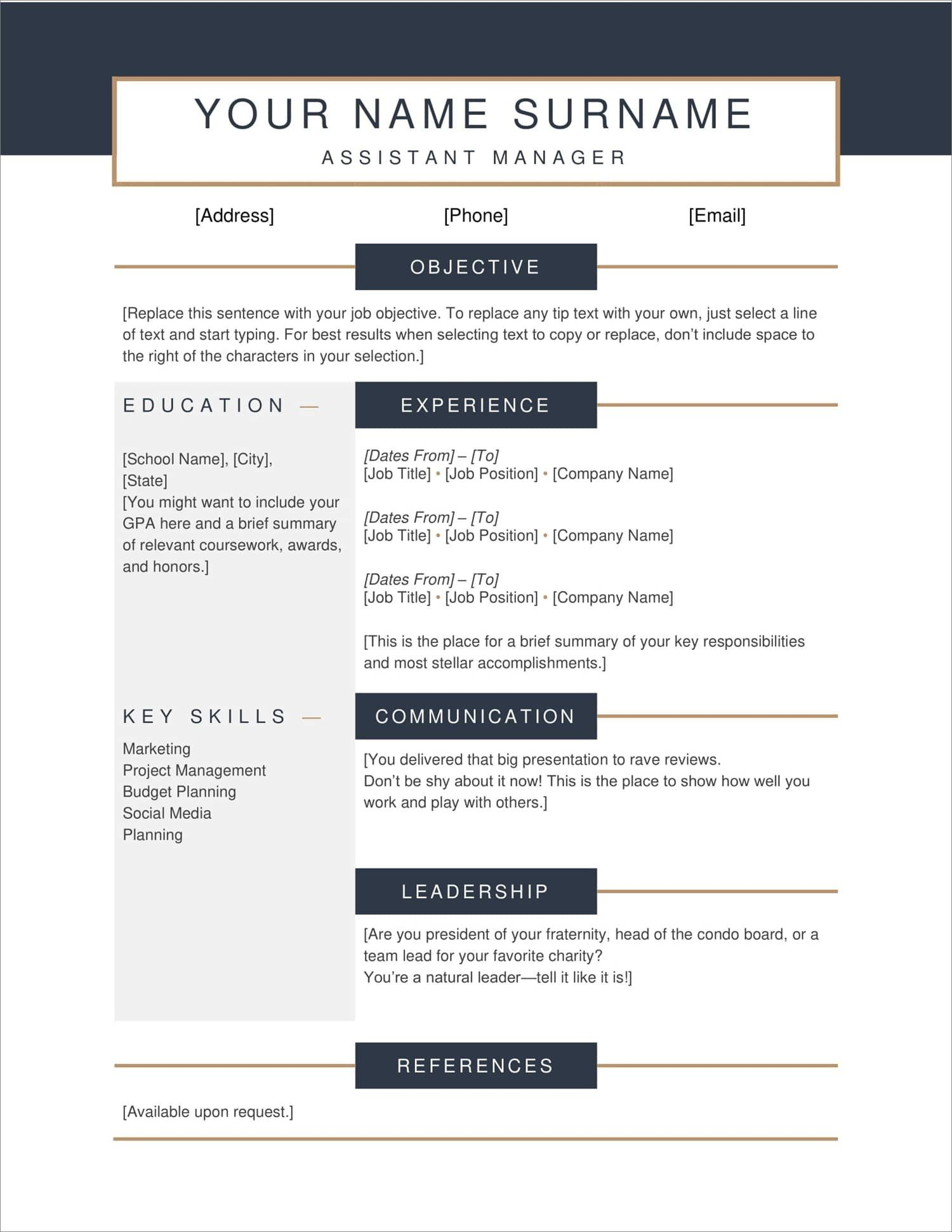 Downloadable Resumes Templates Free in 2020 Downloadable