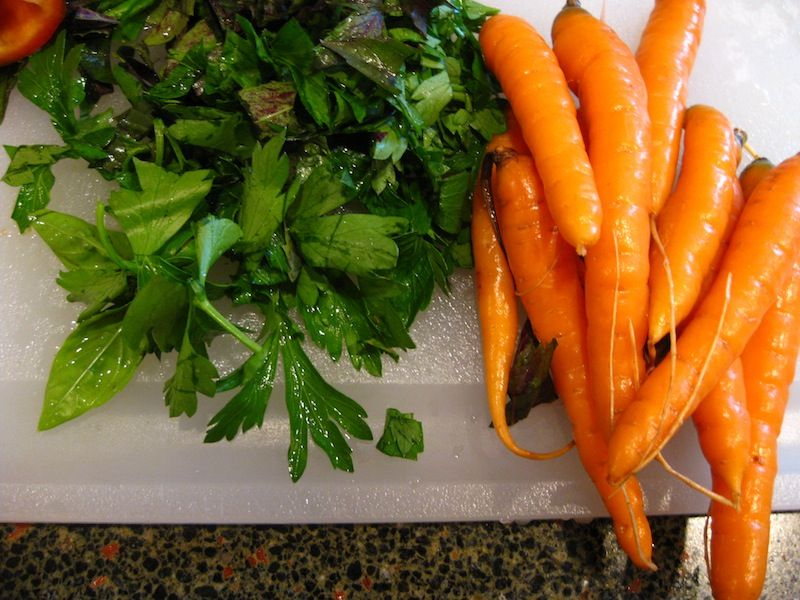 Carrots for the Moroccan White Fish Recipe