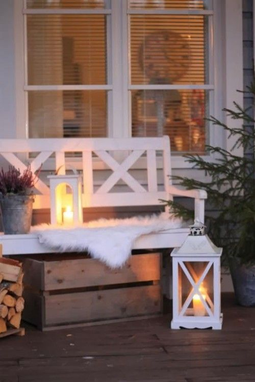 Photo of Beautiful And Cozy Winter Terrace Décor Ideas To Try