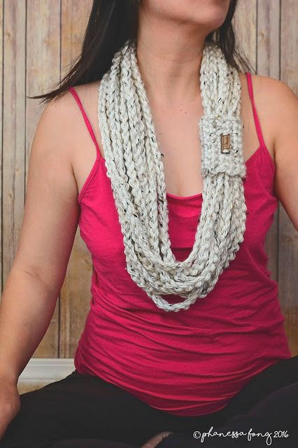 Easy Beginners Scarf Free Chain Scarf Crochet Pattern By Phanessa