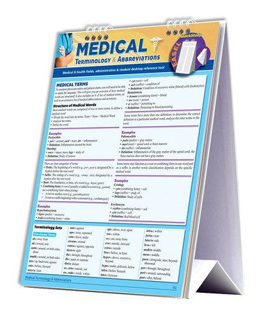 Loving this Medical Terminology  Abbreviation Easel Flip Chart on