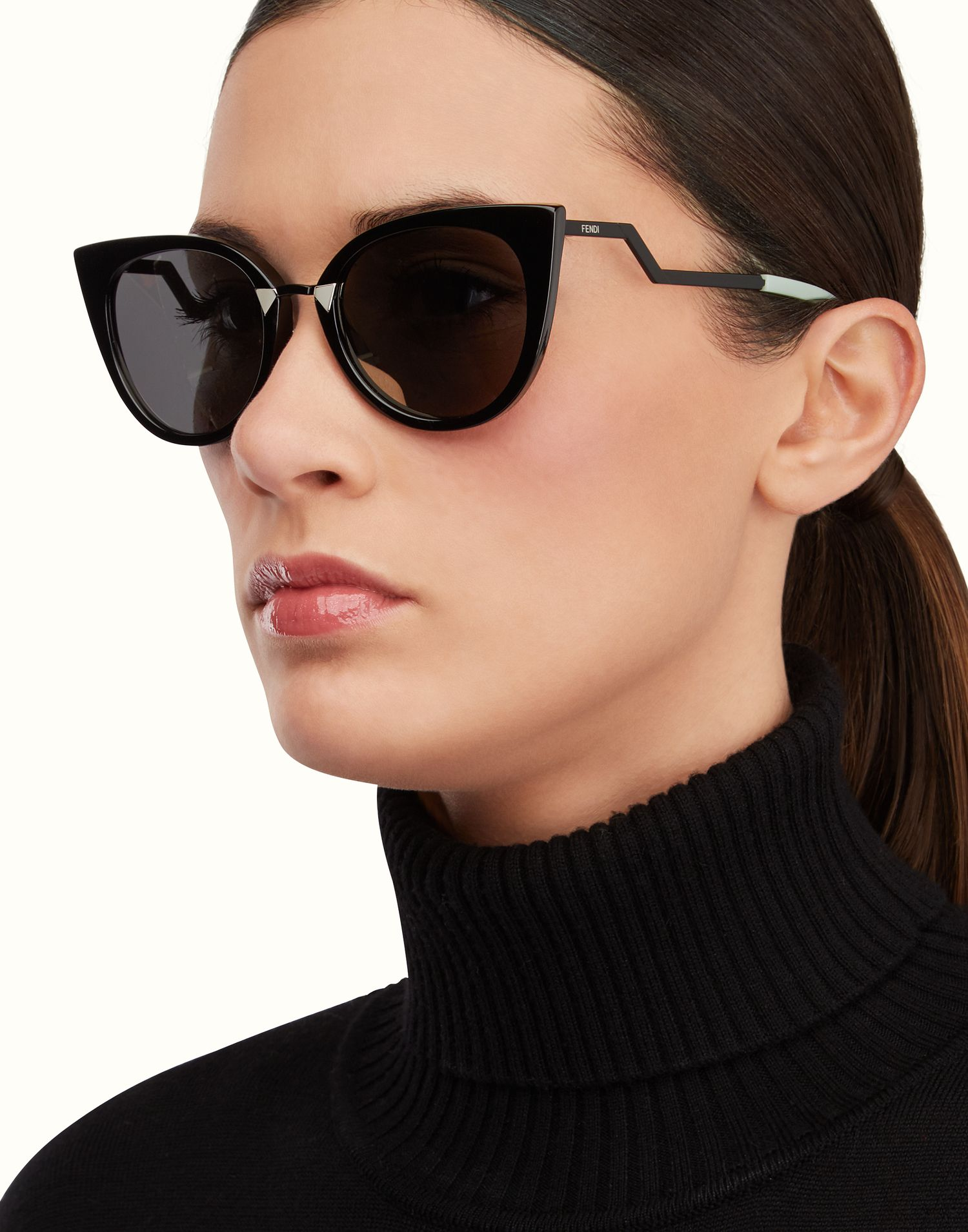 fendi cat eye sunglasses sale aa2n  FENDI  ORCHIDEA Cat-eye sunglasses