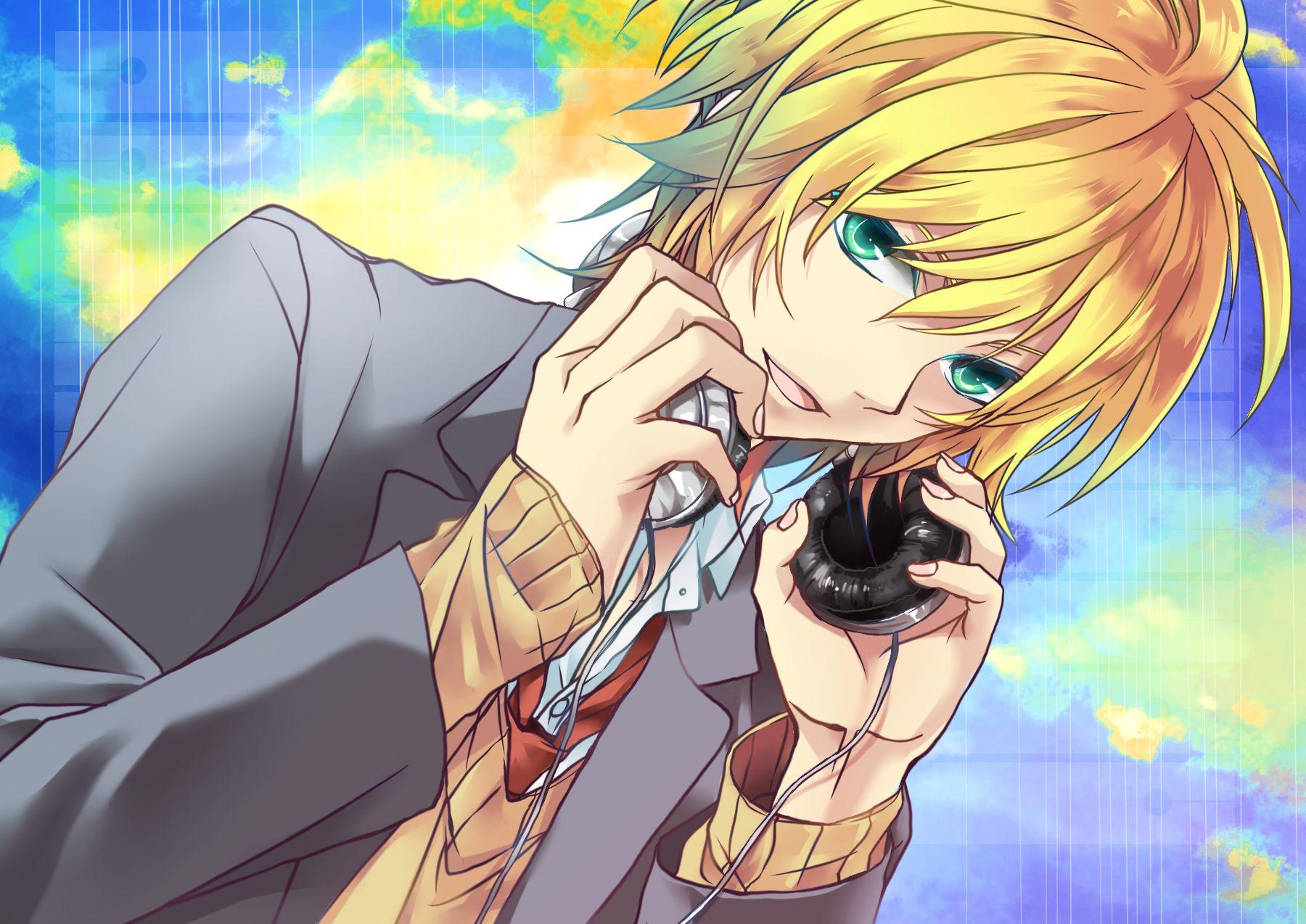 Vocaloid, Kagamine Len Gambar, Anime anak lakilaki