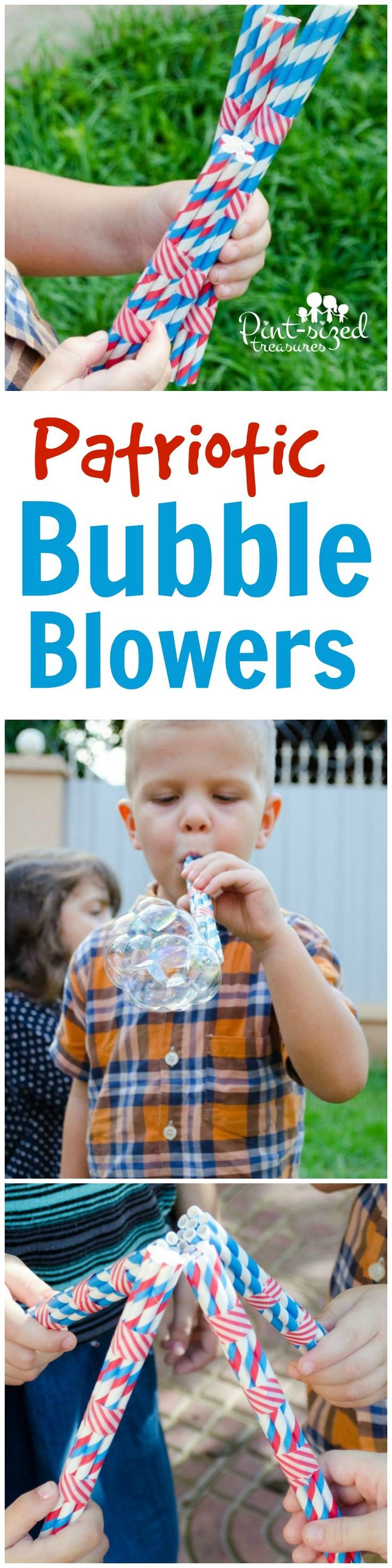 Patriotic Bubble Blowers Craft #labordaycraftsforkids