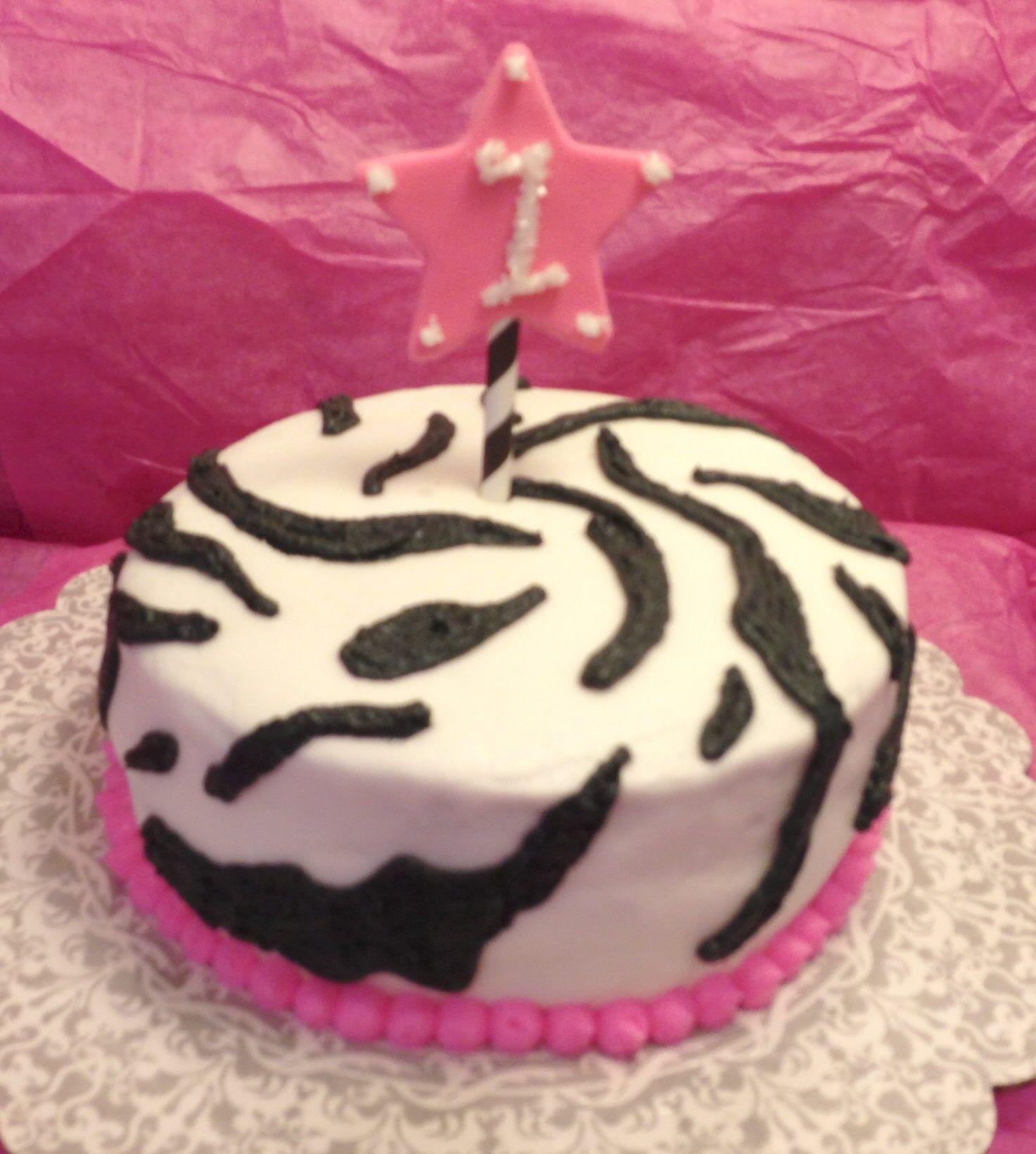 Zebra wedding decorations  zebra print smash cake with buttercream frosting  Bday ideas