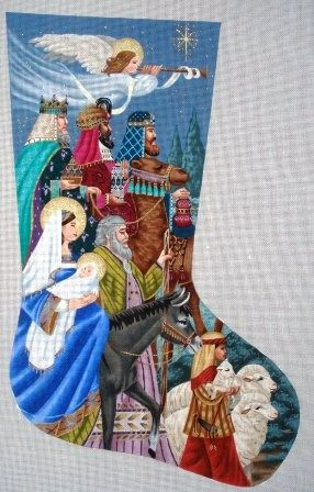 Tapestry Tent Designs - Nativity II needlepoint stocking : tapestry tent needlepoint christmas stockings - memphite.com