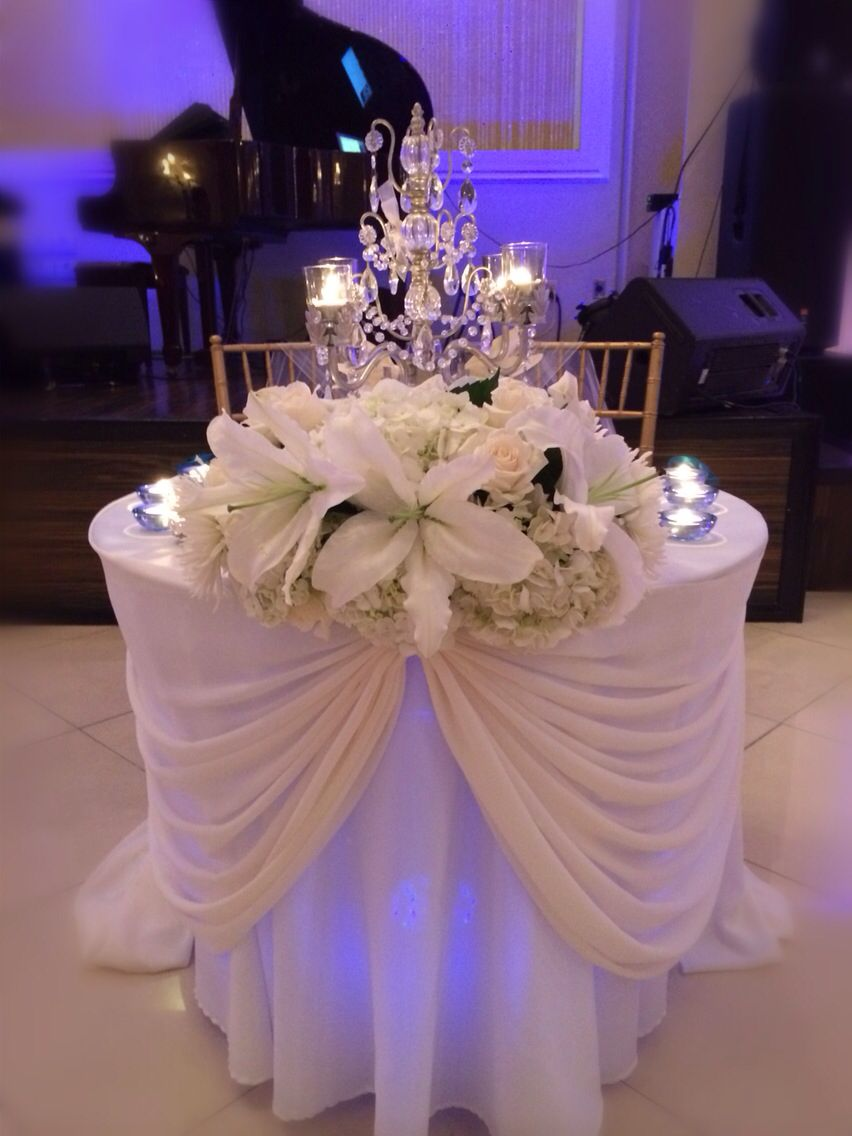 wedding party flowers ideas sweetheart table chez floral designs 9852