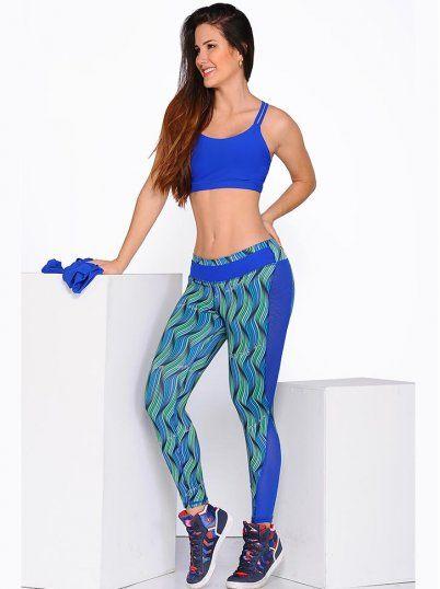 Traje Deportivo Azul - Ropa Fitness Para Mujer 6c8b6d0d143