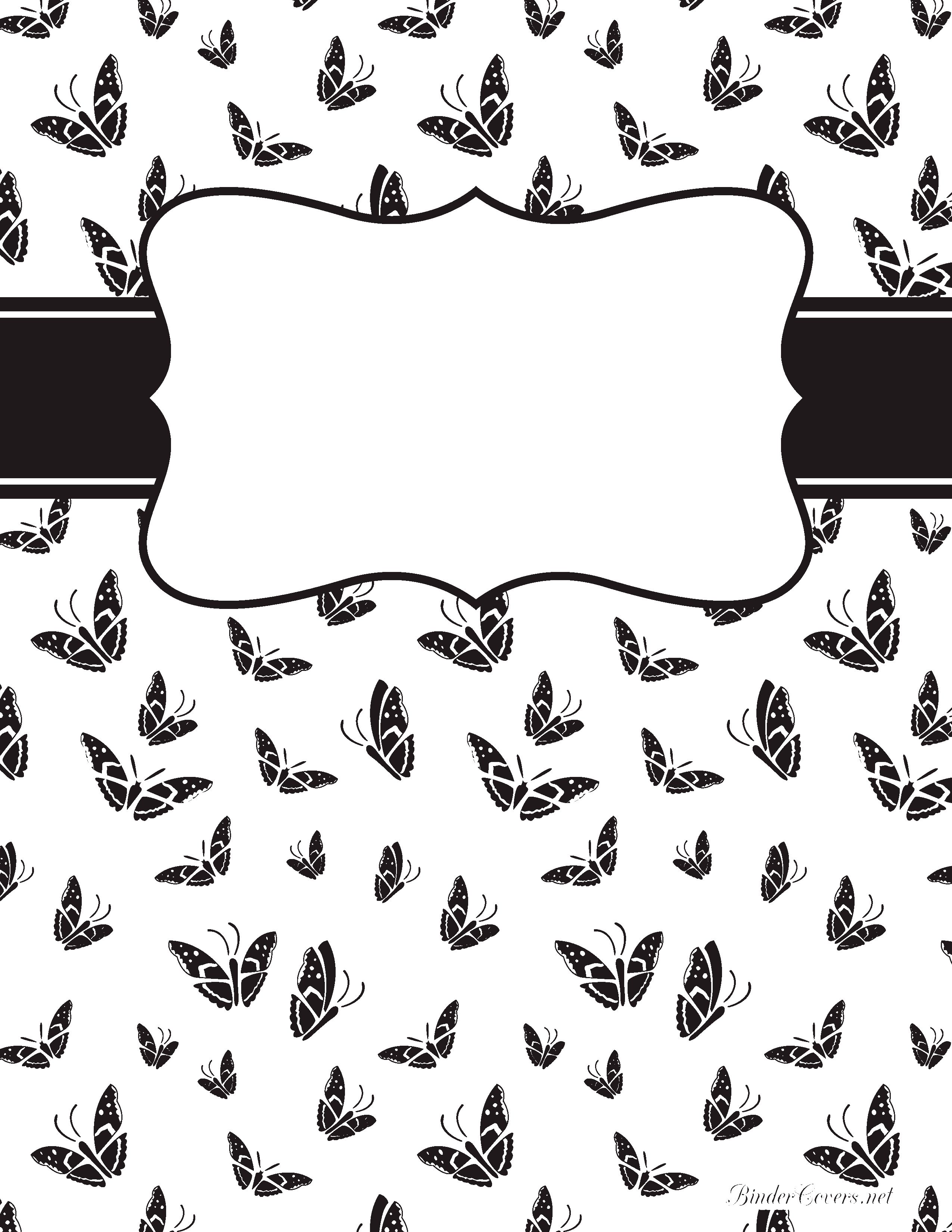 Black And White Butterfly Binder Cover Watermarked Jpg 2 550 3 300