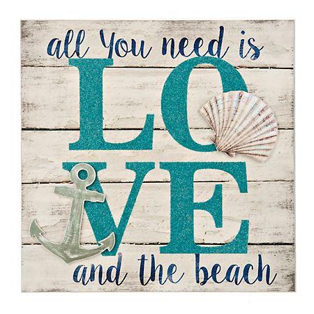 Love And The Beach Wall Plaque Kirklands Beach Theme Decor Diy Beach Decor Beach Signs