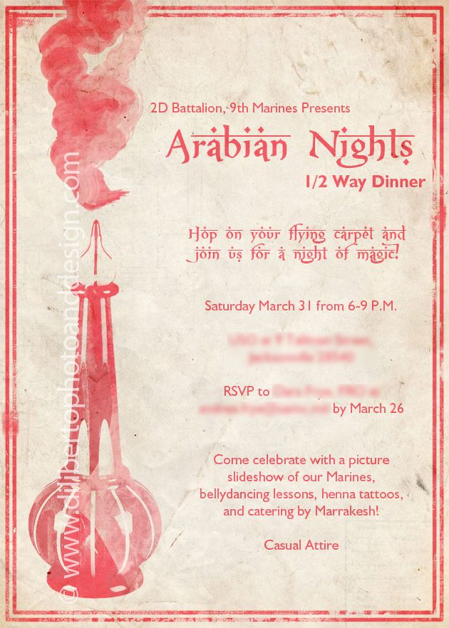 arabian nights invitation Google Search Party Project