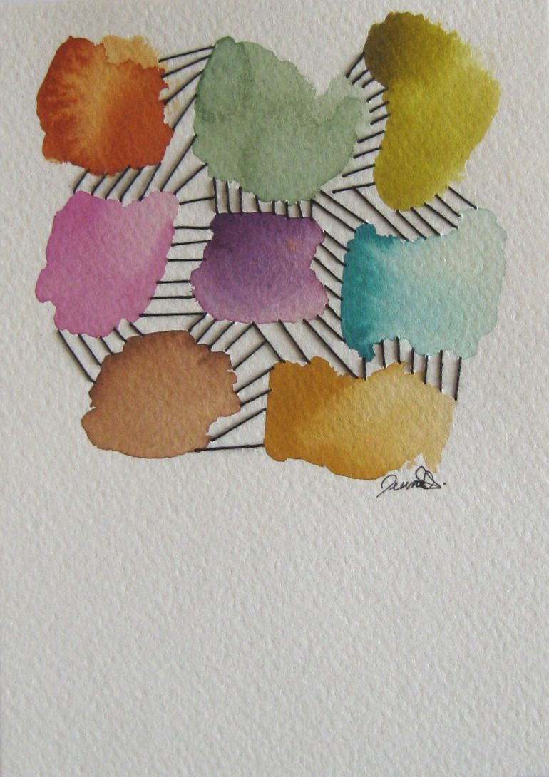 New Mixed Media Work Part 2 Watercolor Painting Color Schemes