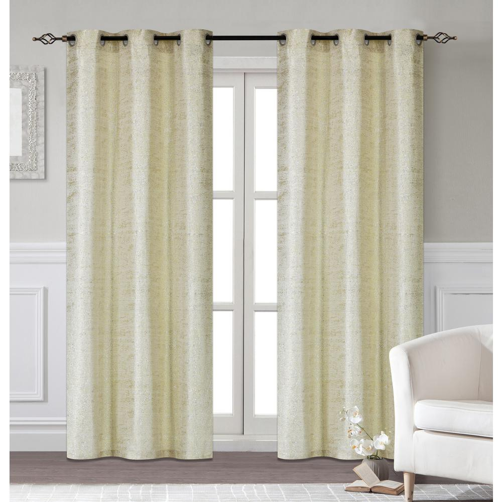 Dainty Home Glamour 38 In W X 96 In L Extra Long Polyester