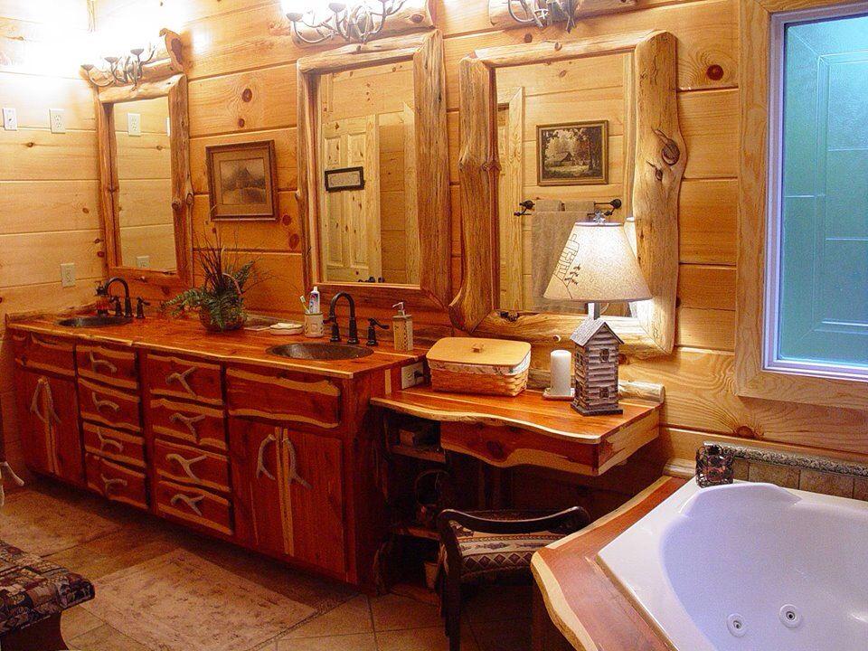 Log cabin bathroom Cabin bathrooms, Floating bathroom