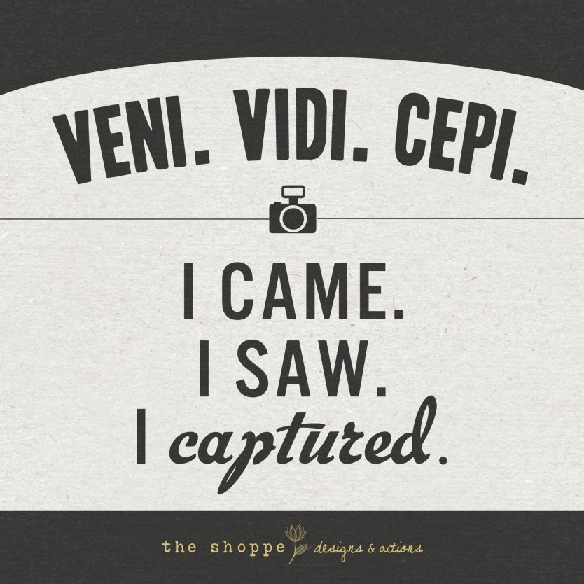 I Came I Saw I Captured » The Shoppe Designs Blog Tattoos