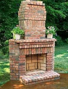 Old Brick Fireplace | Backyard fireplace, Outdoor ... on Brick Outdoor Fireplace Ideas id=14171