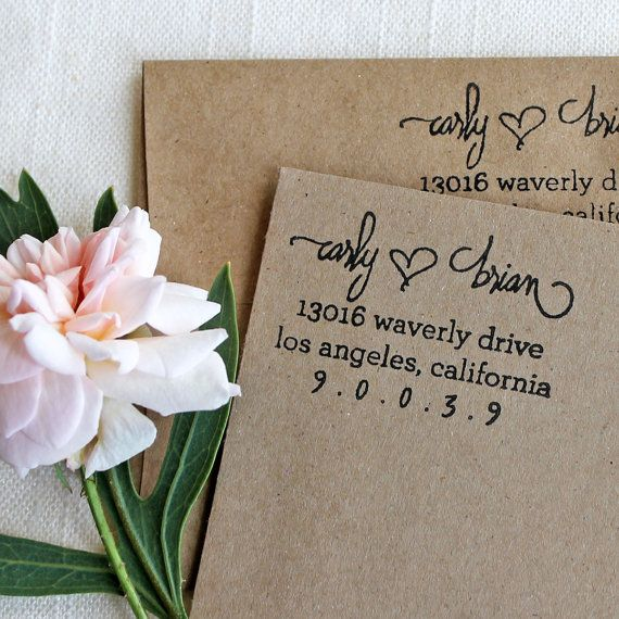 custom return address stamp - Return Address For Wedding Invitations