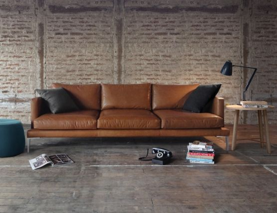 Lennon Australian Made Leather Sofa Lounge by Cameron Foggo for ...
