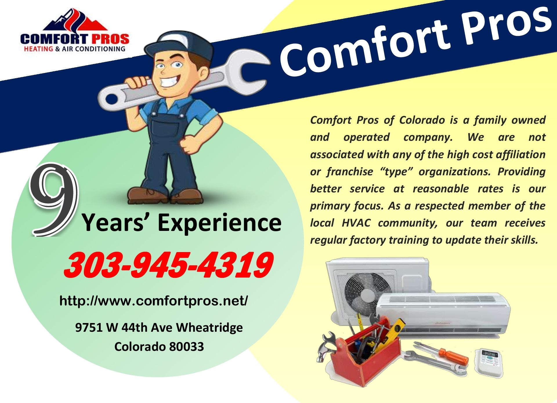 Comfort Pros Hvac Company Lakewood Air Conditioner Company