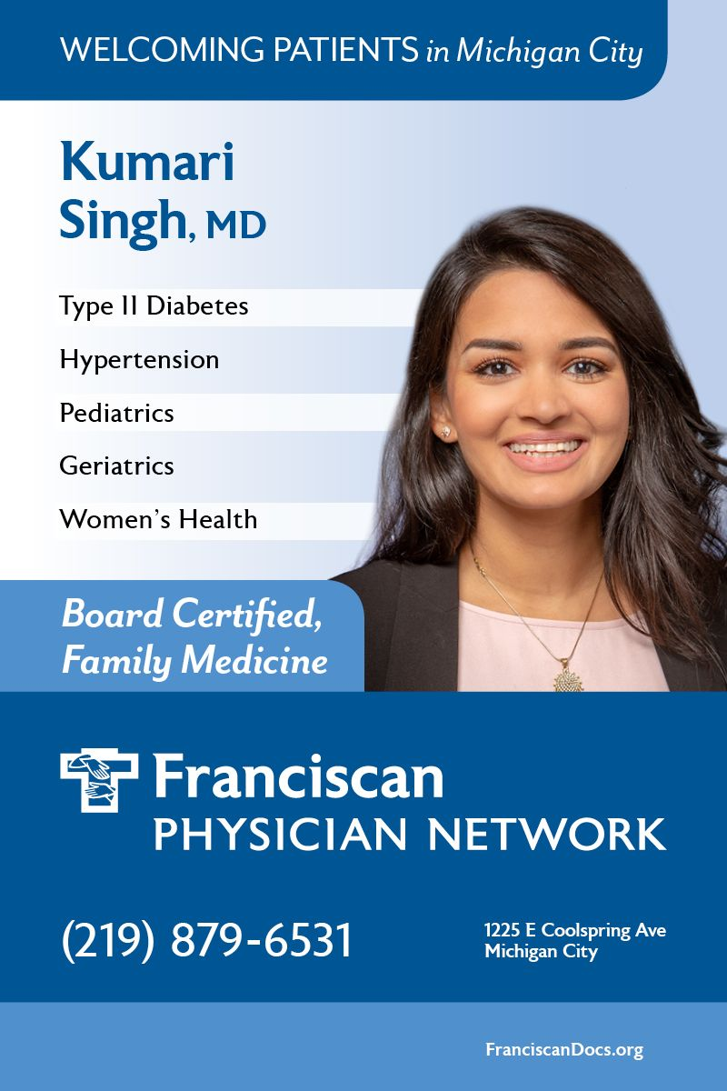 Need a primary care physician in Michigan City? Kumari S