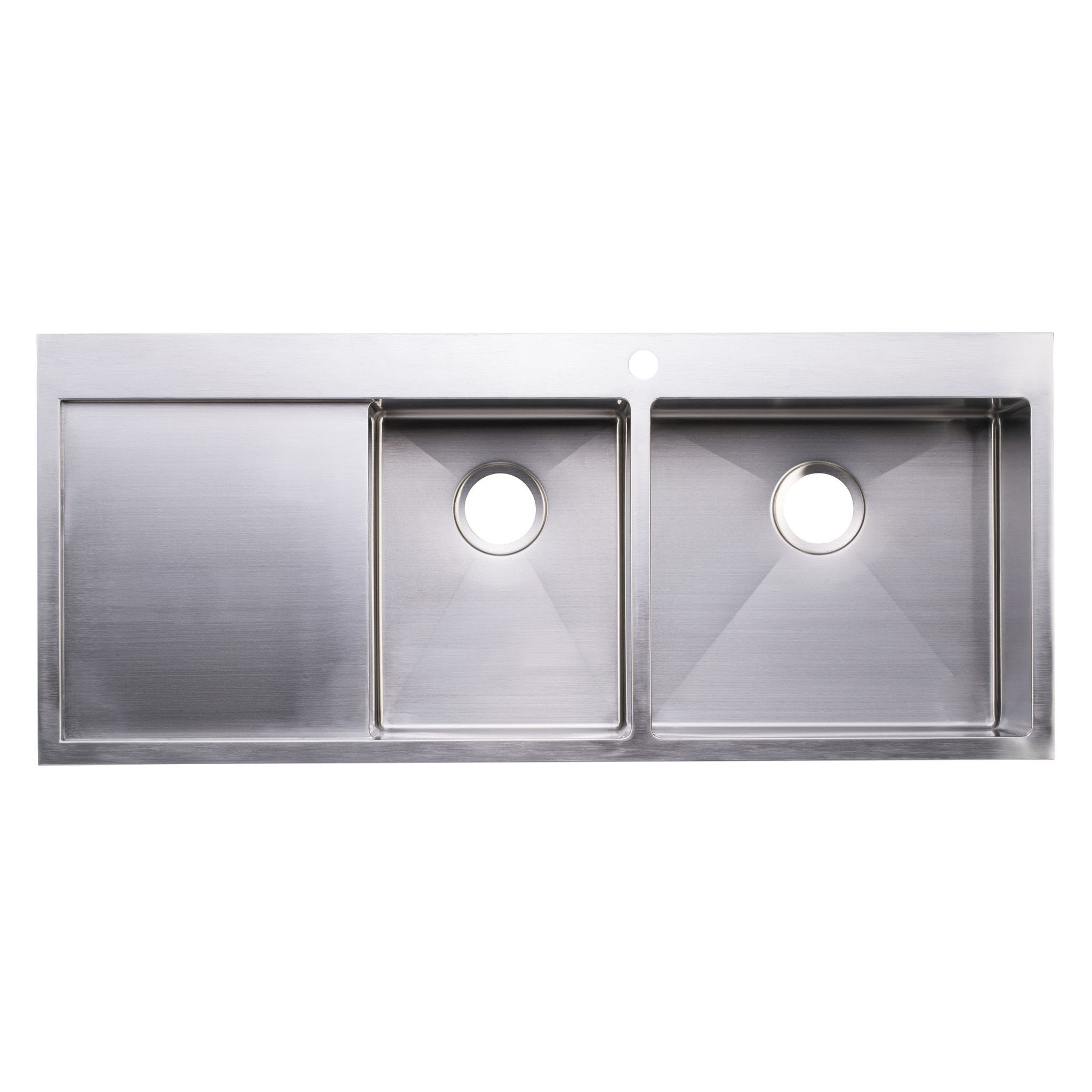 Bai 1234 48 Handmade Stainless Steel Kitchen Sink Double Bowl With Drainboard Top Mount 16 Gaug Stainless Steel Kitchen Sink Steel Kitchen Sink Kitchen Sink