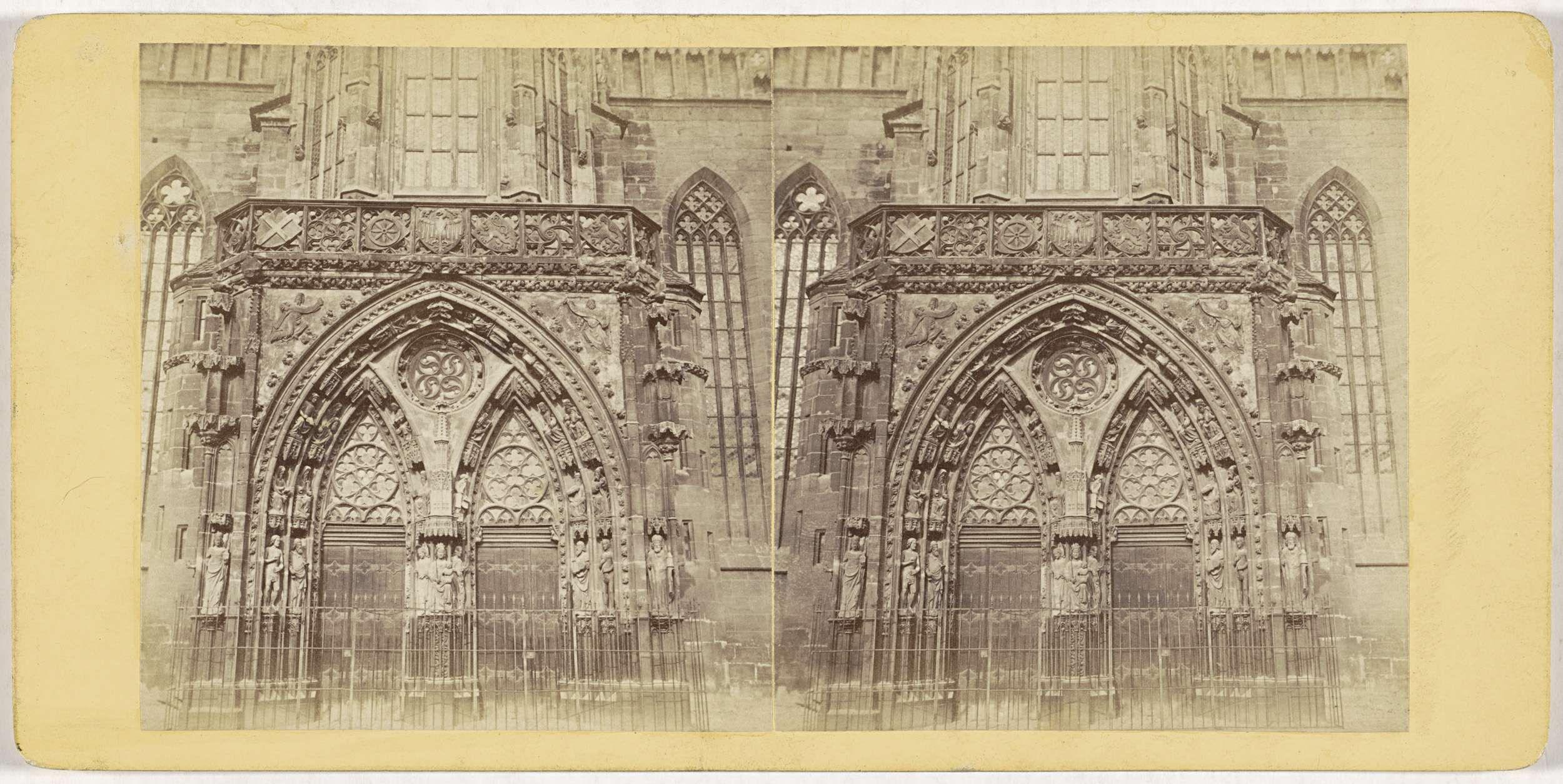 Johann Friedrich Stiehm | Nurnberg. Portal der Frauenkirche, Johann Friedrich Stiehm, E. Linde & Co, 1860 - 1890 |