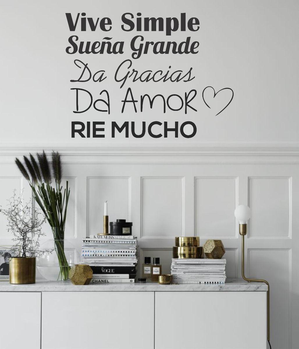 Vinilos decorativos pared frases personalizados y m s for Adhesivos pared dormitorio