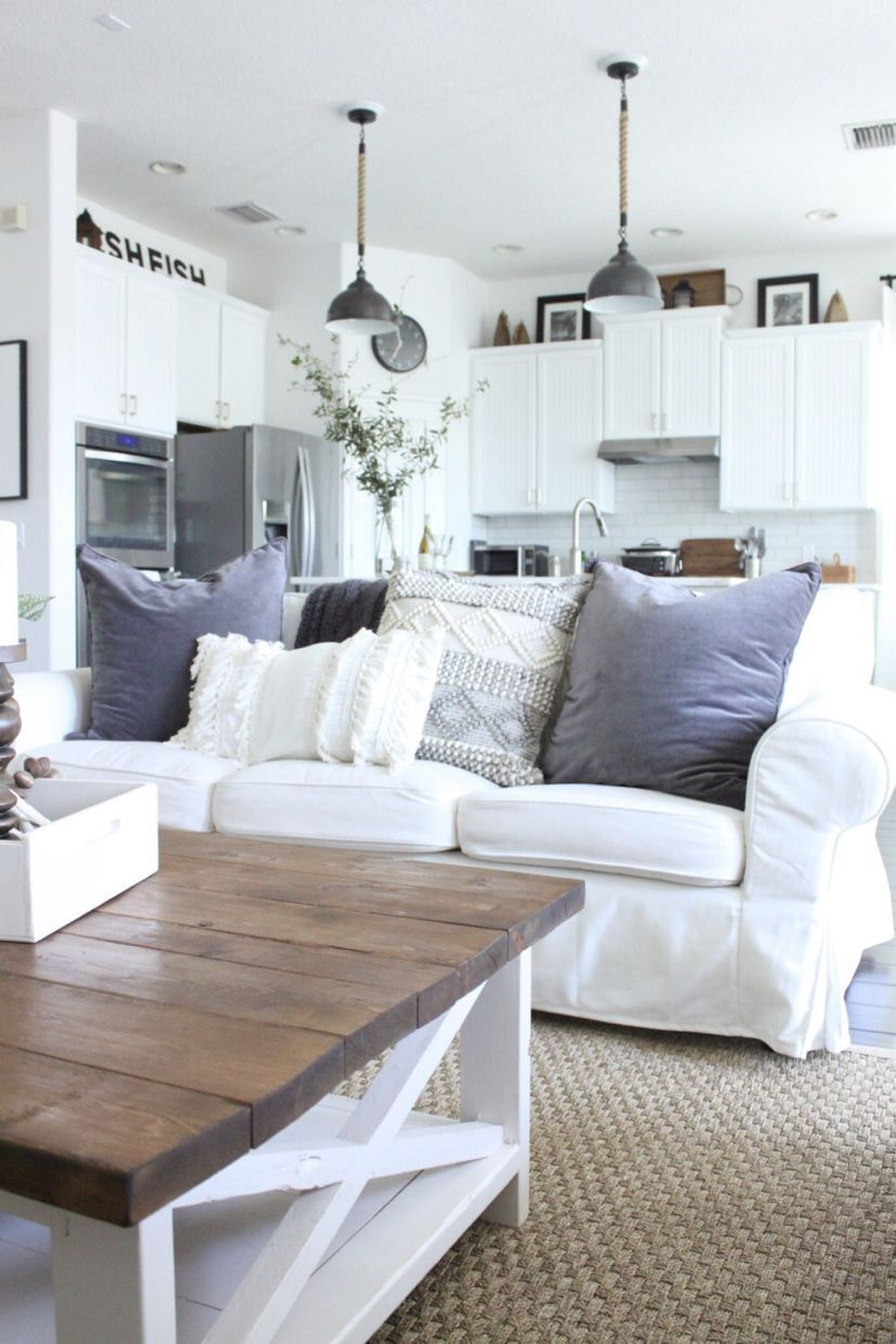 """""""beachy boho"""" style for the family room  rustic living"""