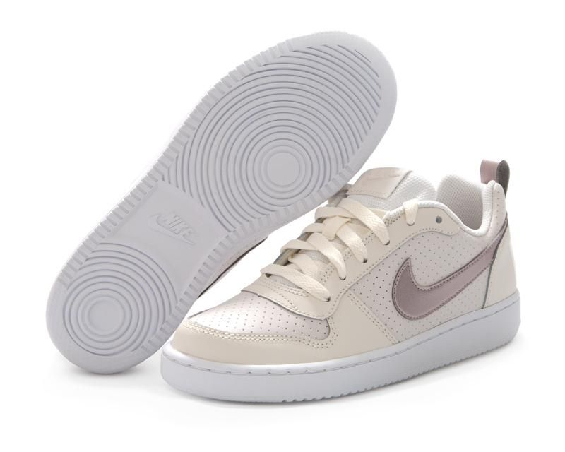 Tenis Nike Court Borough Low (GS) Blancos. (con imágenes