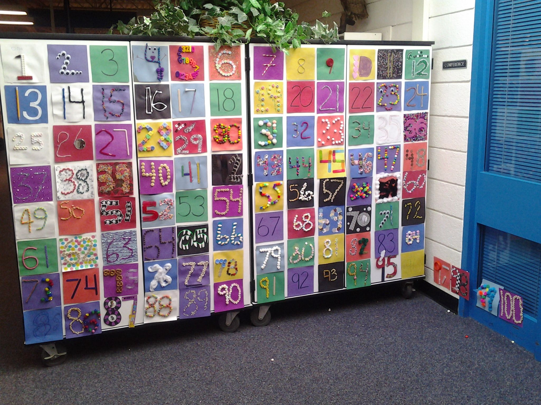 Bulletin Board Hundreds Day Quilt Kindergarten Each
