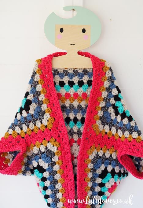 Lululoves - Crochet Granny Square Shrug | tasarım | Pinterest ...
