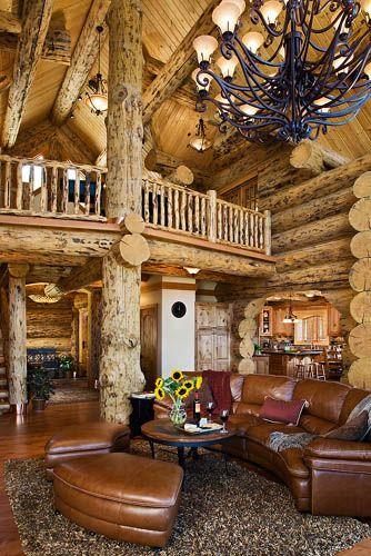 Great Rooms Log Homes Log Home Decorating Log Cabin Homes