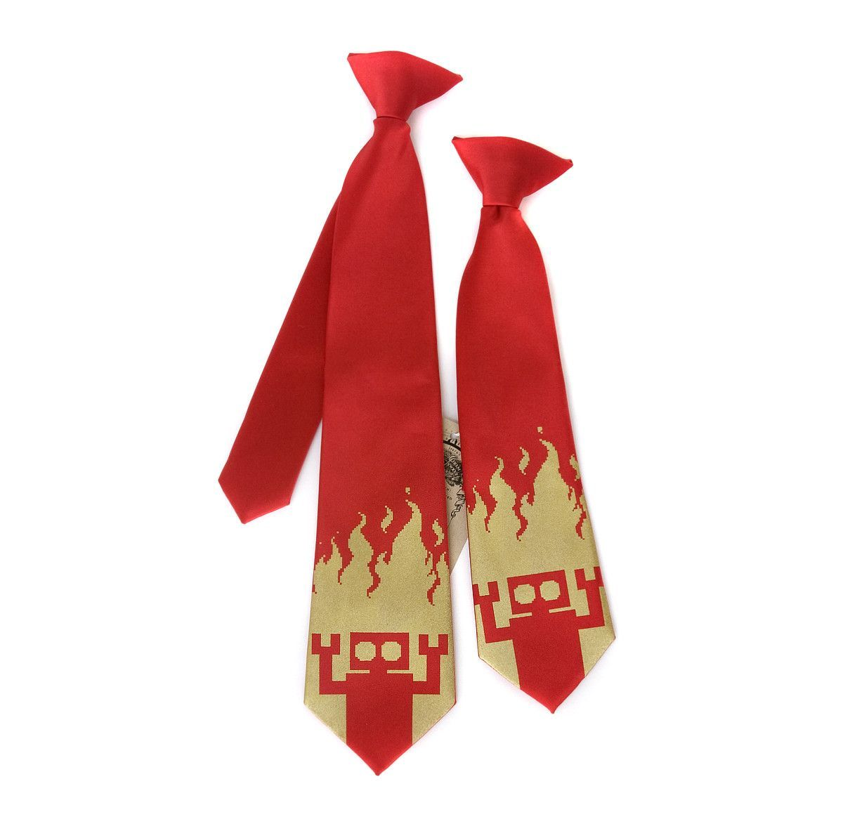 4f63c71ce6a0 Boys Red Robot Tie. Cute clip on robot tie! Robot Infernos? How could we  possibly say no? Original Illustration by Richard Stevens III (R Stevens).