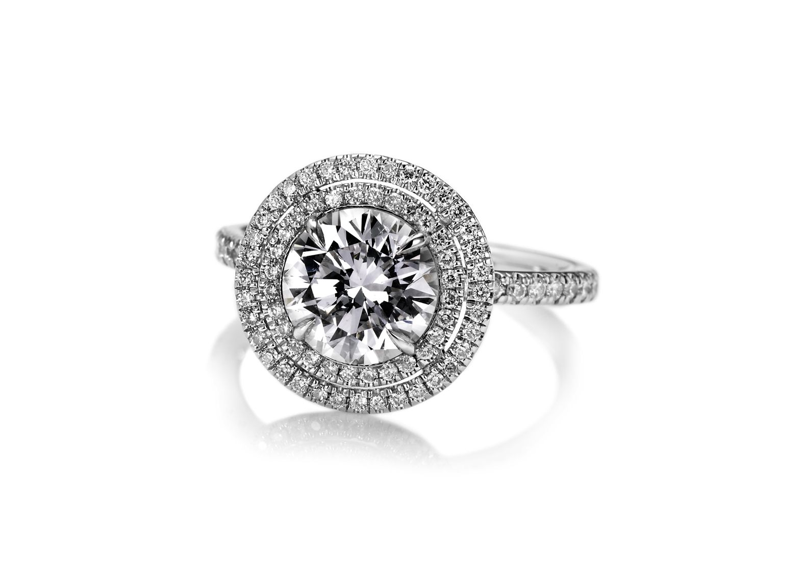 David alan jewelry custom made round diamond engagement ring with