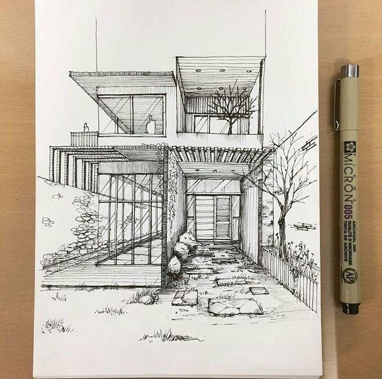 Skizzieren Zeichen Gebaude Zeichnung Architektur Skizzen Architekturposter Portfolio Stiftskizze Handzeichnungen Bogen