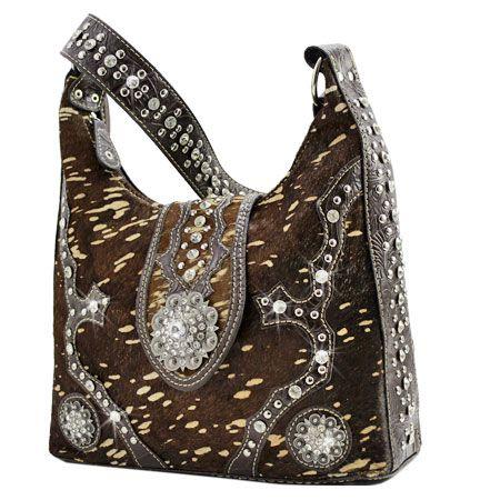 Hair On Cowhide Purse Hide 086h Brown Whole Western Handbags