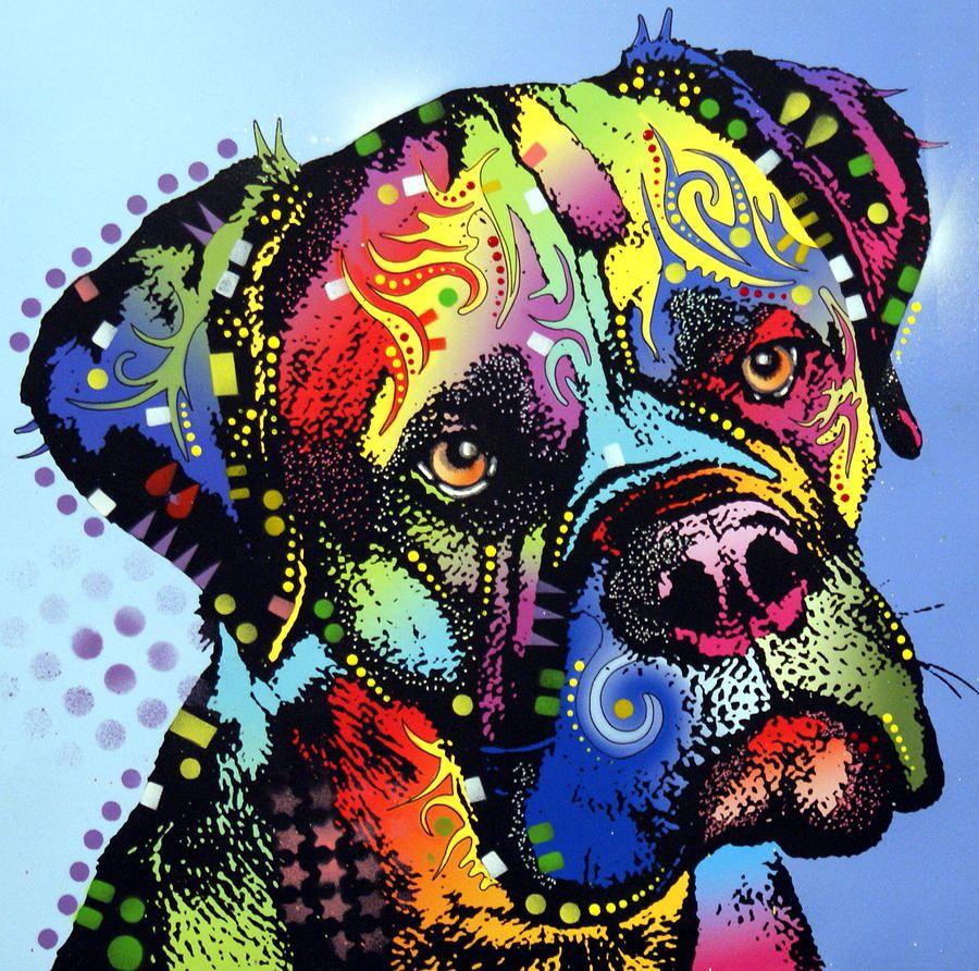 Dog Painting - Mastiff Warrior By Dean Russo