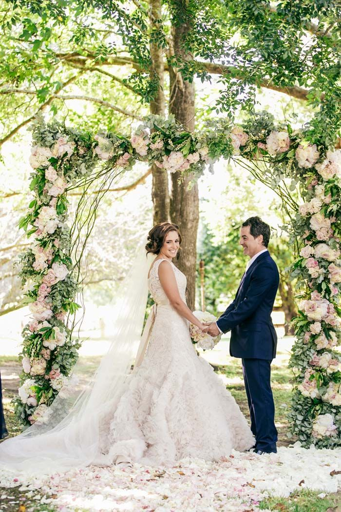 A Wedding Ceremony At Terrara House Featured In An Elegant Country