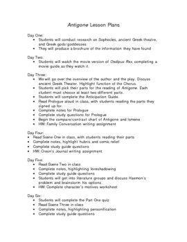 Antigone Worksheet Answers   worksheet