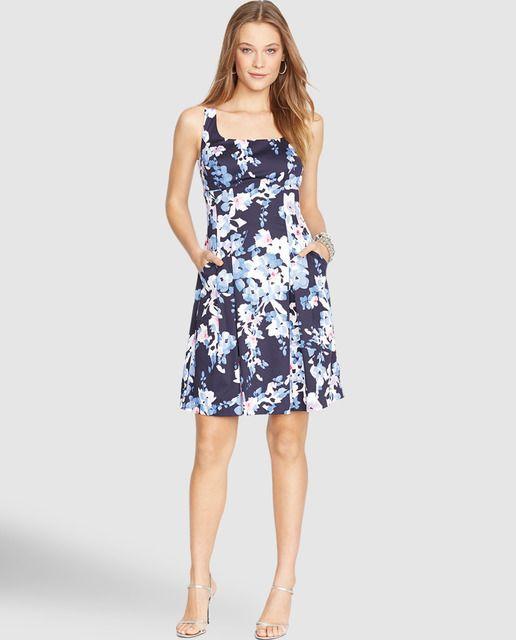 709066420 Vestido corto de mujer Lauren Ralph Lauren con estampado de flores ...